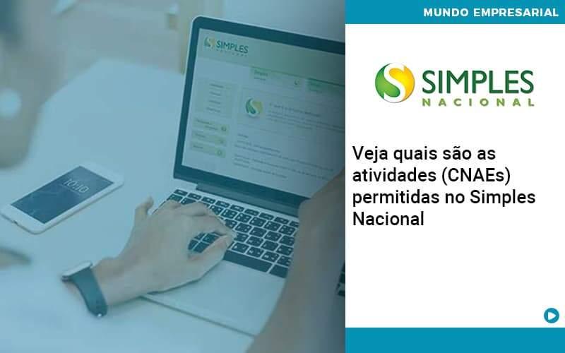 Veja Quais São As Atividades (cnaes) Permitidas No Simples Nacional - Quero montar uma empresa - Veja quais são as atividades (CNAEs) permitidas no Simples Nacional
