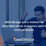 Ibge Divulga Que Numero De Empresa Ativas Aumentou Opta Contabil - Contabilidade em Pinhais - PR | Opta Contábil - IBGE divulga que o número de empresas ativas aumentou após 5 anos em queda. Confira!